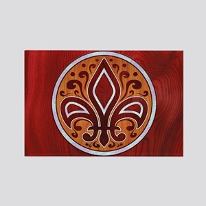 fleur-wood-inlay-CRDh Rectangle Magnet
