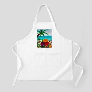 Tropical Floral Beach Apron