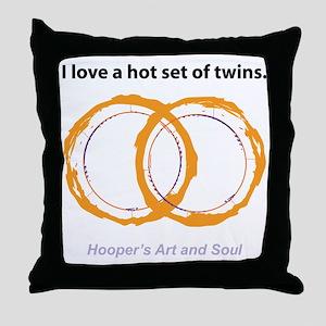 Hot Twins Throw Pillow