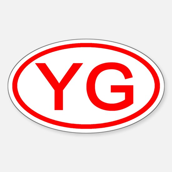 YG Oval (Red) Oval Decal