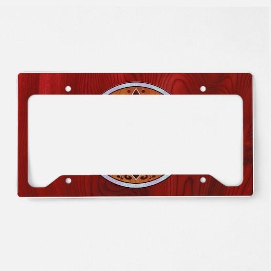 fleur-wood-inlay-OV License Plate Holder