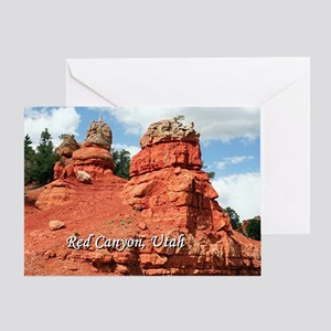 Red Canyon, Utah, USA (caption) Greeting Card