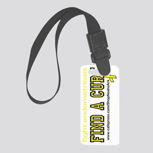 Endometriosis Awareness Bottle Small Luggage Tag