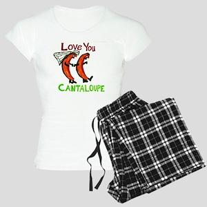 Love You Cantaloupe Women's Light Pajamas