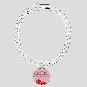 Dorothy's Ruby Red Slipp Charm Bracelet, One Charm