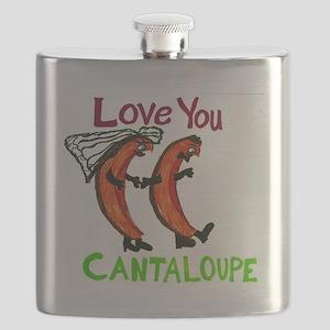 Love You Cantaloupe Flask