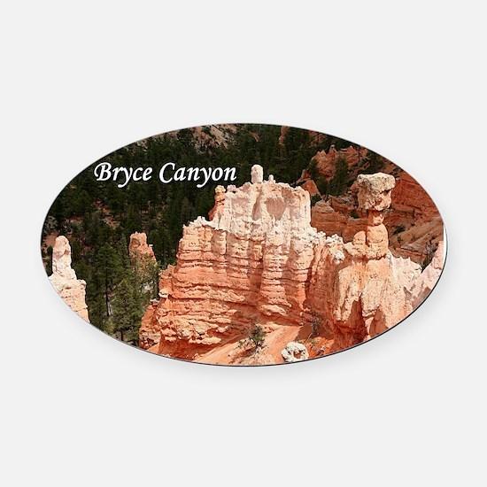 Bryce Canyon, Utah 3 (caption) Oval Car Magnet