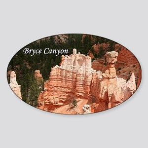 Bryce Canyon, Utah 3 (caption) Sticker (Oval)