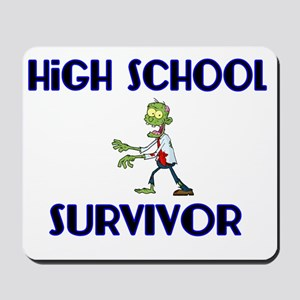 High School Survivor-Zombie-blue Mousepad