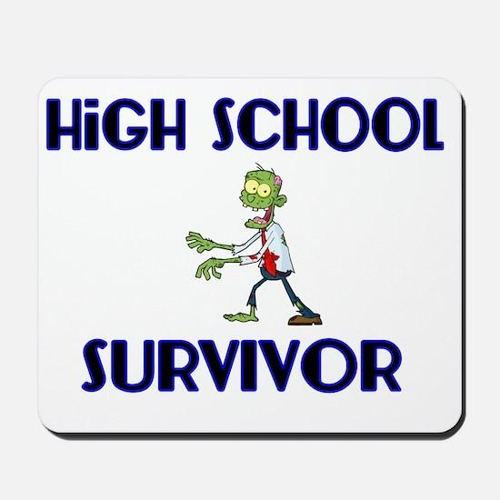 High School Survivor-Zombie-blue Mousepad