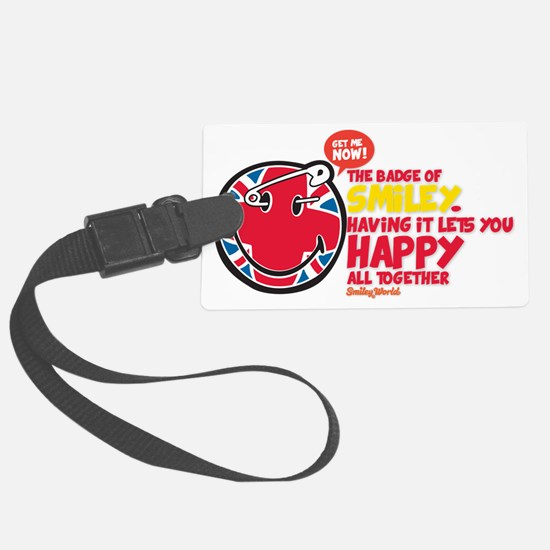 Badge SMiley Large Luggage Tag