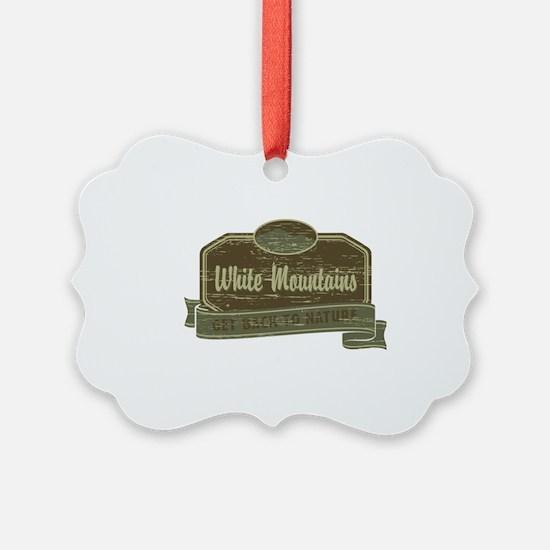 White Mountains: Get Back to Natu Ornament