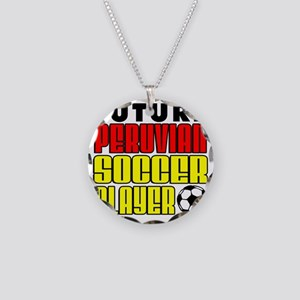 Future Peruvian Soccer Playe Necklace Circle Charm