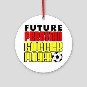 Future Peruvian Soccer Player Round Ornament