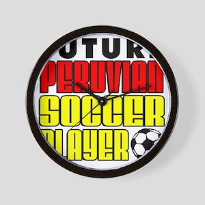 Future Peruvian Soccer Player Wall Clock