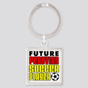 Future Peruvian Soccer Player Square Keychain
