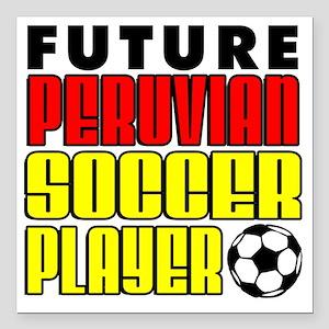 """Future Peruvian Soccer P Square Car Magnet 3"""" x 3"""""""