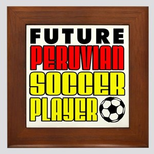 Future Peruvian Soccer Player Framed Tile