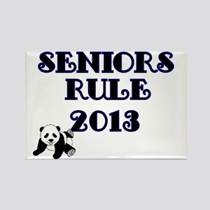 SENIORS RULE 2013-with Panda Rectangle Magnet