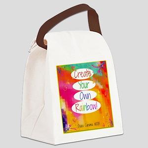 Create Your Own Rainbow Canvas Lunch Bag