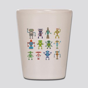 Robots by Phil Atherton Shot Glass
