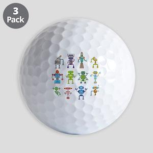 Robots by Phil Atherton Golf Balls