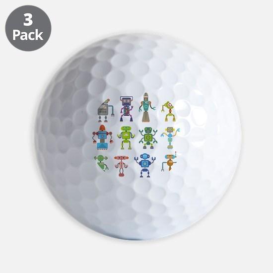 Robots by Phil Atherton Golf Ball
