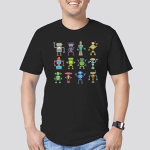 Robots by Phil Atherto Men's Fitted T-Shirt (dark)