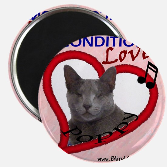 Poppy Unconditional Love in Pink Magnet