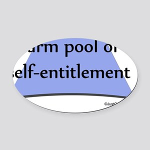 Self-entitled Oval Car Magnet
