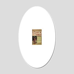 sherlock holmes 20x12 Oval Wall Decal