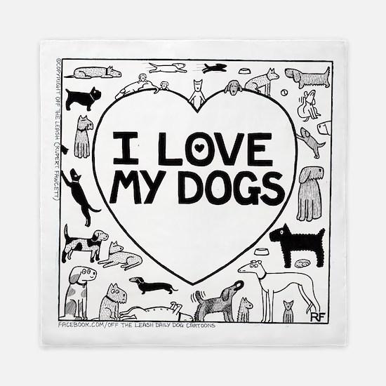 I Love My Dogs Queen Duvet