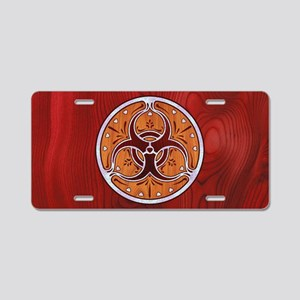 biohaz-delftwood-OV Aluminum License Plate