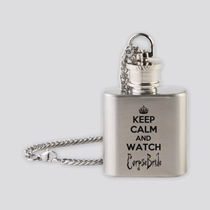 Keep Calm and Watch Corpse Bride Flask Necklace