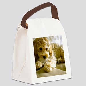 The Cockapoo Puppy Canvas Lunch Bag