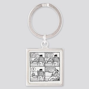 Communication Problem Square Keychain