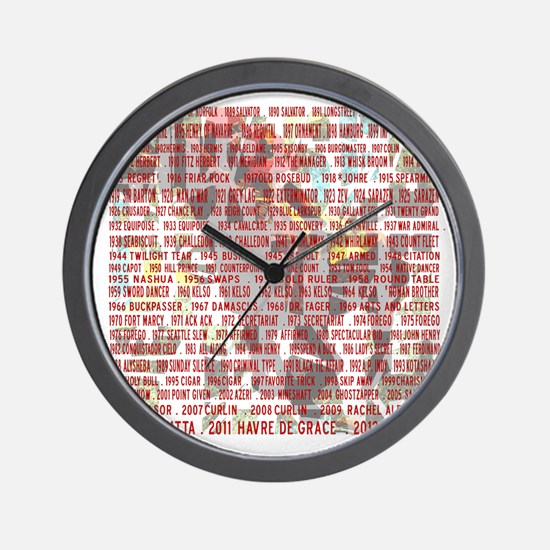 Horses of the Year 1887-2012 II Wall Clock
