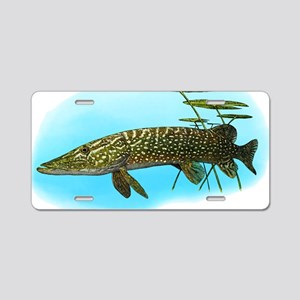 Northern Pike Aluminum License Plate