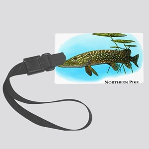 Northern Pike Large Luggage Tag
