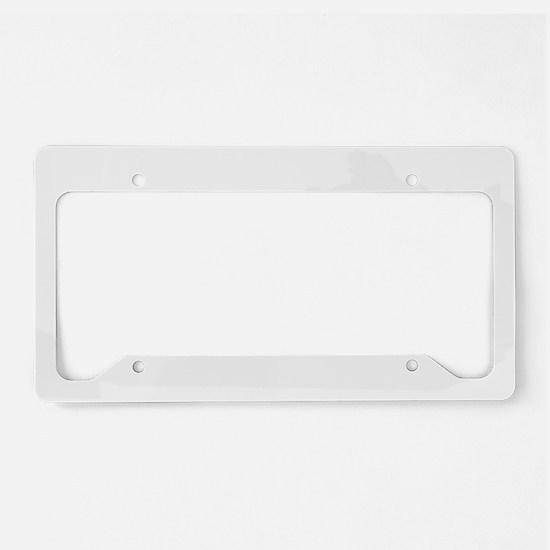 White License Plate Holder