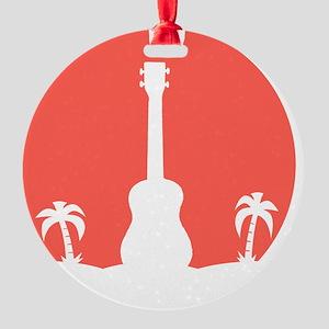 Sunset Ukulele Round Ornament