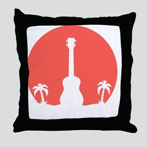 Sunset Ukulele Throw Pillow