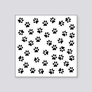 "BLACK PAW PRINTS Square Sticker 3"" x 3"""