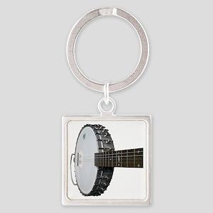 Vintage Banjo Square Keychain