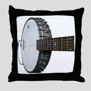 Vintage Banjo Throw Pillow