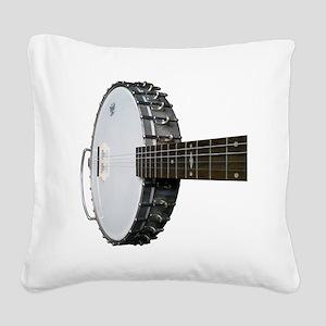 Vintage Banjo Square Canvas Pillow