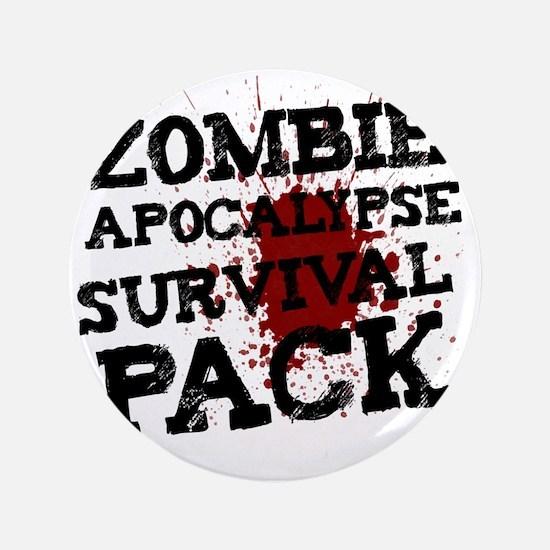 """Zombie Apocalypse Survival Pack 3.5"""" Button"""