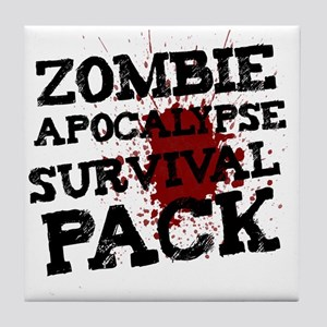 Zombie Apocalypse Survival Pack Tile Coaster