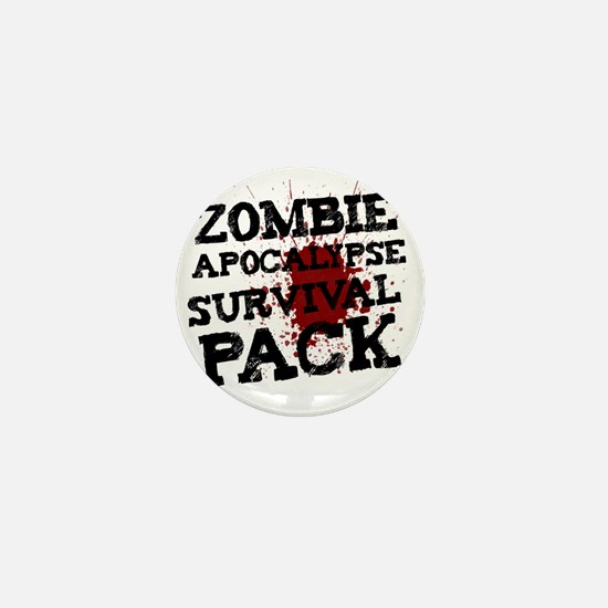 Zombie Apocalypse Survival Pack Mini Button