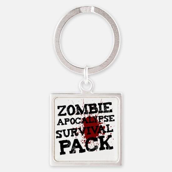 Zombie Apocalypse Survival Pack Square Keychain